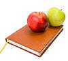 ID 3034887 | Książka pamiętnik i jabłka | Foto stockowe wysokiej rozdzielczości | KLIPARTO