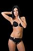 Frau in schwarzer Unterkleidung | Stock Foto