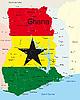 Векторный клипарт: Гана