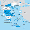 Vector clipart: Greece map