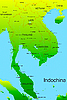 Vector clipart: Indochina