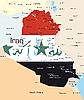 Vektor Cliparts: Irak