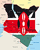 Vector clipart: Kenya map