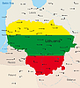 Vector clipart: Lithuania