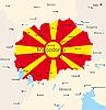 Vektor Cliparts: Mazedonien