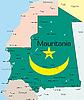 Vektor Cliparts: Mauretanien