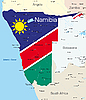 Векторный клипарт: Намибия