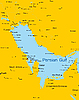 Vector clipart: Persian gulf countries