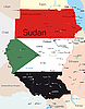 Vector clipart: Sudan map