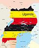 Vektor Cliparts: Uganda