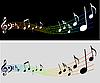 Vektor Cliparts: Musik Hintergrund mit Notizen