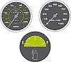Vector clipart: Illustration of tachometer and speedometer