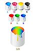 Vektor Cliparts: verschiedene Farben