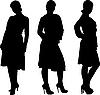 Vector clipart: girl posing silhouette
