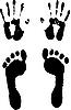 Vektor Cliparts: des Titels / footstep