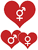 Vektor Cliparts: roten Herzen