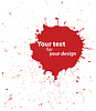 Vector clipart: grunge blood spot for your design