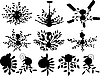 Vector clipart: chandelier silhouettes