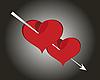 Векторный клипарт: Красные сердечки