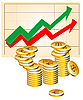 Vector clipart: business graph with coins