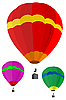 Vector clipart: hot air balloons