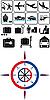 Vektor Cliparts: Travel icons