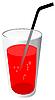 Vektor Cliparts: red Drink mit Rohr