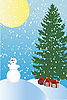 Vector clipart: winter holiday card
