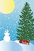 зимняя праздничная открытка