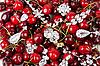 Jewels at cherries   Stock Foto