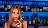 Girl at bar | Stock Foto