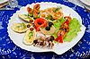 Seafood set   Stock Foto