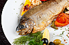Dish with trout fish | Stock Foto