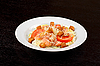 Geräuchertem Lachsfilet Salat | Stock Foto