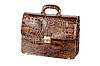 Brown expensive briefcase | Stock Foto