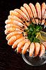 Shrimps with lemon | Stock Foto
