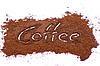 Café molido signo | Foto de stock