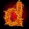 Feuer-Buchstabe D | Stock Foto