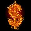 화재 달러 기호 | Stock Foto