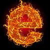 Feuer-Buchstabe E | Stock Foto