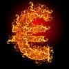 Feuer-Eurozeichen | Stock Foto