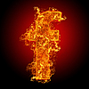 Fire small letter F | Stock Foto