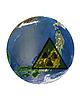 Photo 300 DPI: japanese globe with radiation sign