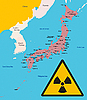 Vector clipart: Japan and radiation sign