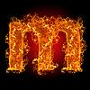 화재 소문자 M | Stock Foto