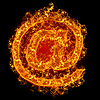 Fire sign e-mail | Stock Foto