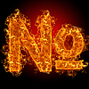Fire sign number | Stock Foto