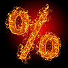 화재 기호 백분율 | Stock Foto