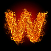 Fire small letter W | Stock Foto