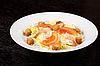 Tiger shrimps salad | Stock Foto